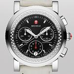 Sport Sail Diamond, Black Dial White Alligator