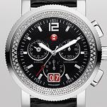 Sport Sail Large Diamond, Black Dial Black Alligator
