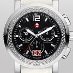 Sport Sail Large Diamond, Black Dial White Alligator