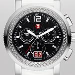 Sport Sail Large Diamond, Black Dial White Patent