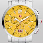 Sport Sail Large Yellow Dial Stainless Steel Bracelet