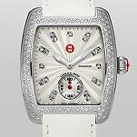Urban Mini Diamond, Diamond Dial White Patent