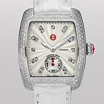 Urban Mini Diamond, Diamond Dial Silver Alligator