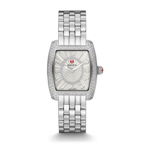 Michele Urban Mini Diamond, Diamond Dial Watch Mww02a000572 White