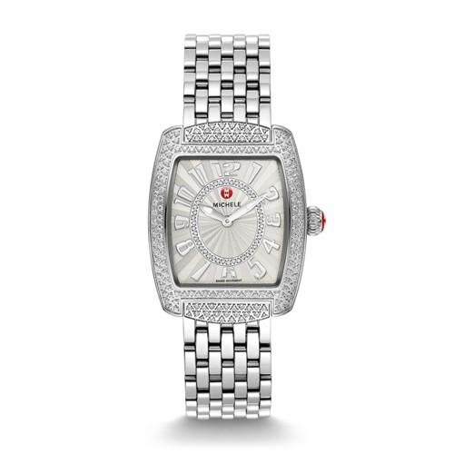 Michele Urban Mini Diamond, Diamond Dial Diamond Bracelet Watch Mww02a000573 White