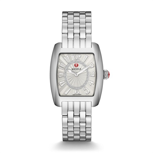 Michele Urban Mini,Diamond Dial Watch Mww02a000585 Silver
