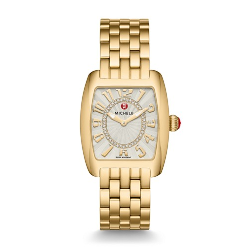 Michele Urban Mini Gold, Diamond Dial Watch Mww02a000596 Silver
