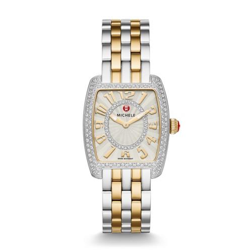 Michele Urban Mini Diamond Two-Tone, Diamond Dial Watch Mww02a000599 Silver