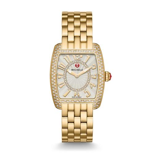 Michele Urban Mini Diamond Gold, Diamond Dial Watch Mww02a000606 Silver