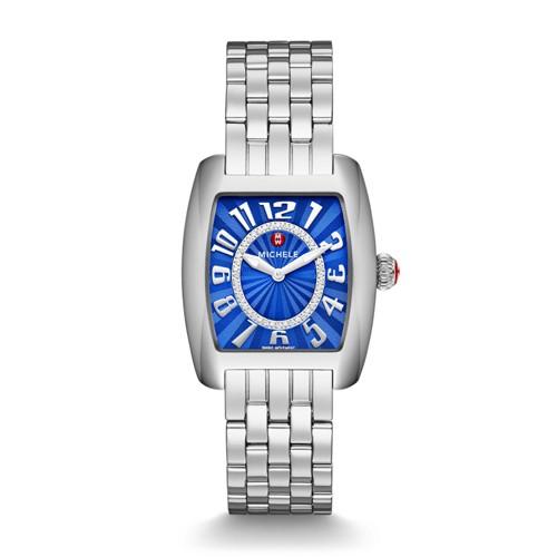 Michele Urban Mini, Cobalt Diamond Dial Watch Mww02a000609 Blue