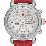 Signature CSX-36 Diamond, Diamond Dial Garnet Alligator