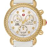 Signature CSX-36 Diamond Gold, Diamond Dial White Alligator