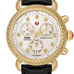 Signature CSX-36 Diamond Gold, Diamond Dial Black Alligator