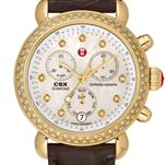 Signature CSX-36 Diamond Gold, Diamond Dial Espresso Alligator