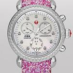 Signature CSX-36 Diamond, Diamond Dial Hot Pink Glitter