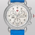 Signature CSX-36 Diamond, Diamond Dial Blue Fashion Lizard