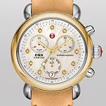 CSX-36 Non-Diamond Two-Tone, Diamond Dial Tan Fashion Leather