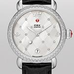 CSX Diamond, Quilted Mosaic Diamond Dial Black Alligator