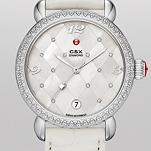 CSX Diamond, Quilted Mosaic Diamond Dial White Alligator