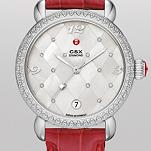 CSX Diamond, Quilted Mosaic Diamond Dial Garnet Alligator