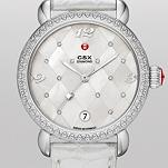 CSX Diamond, Quilted Mosaic Diamond Dial Silver Alligator