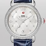 CSX Diamond, Quilted Mosaic Diamond Dial Navy Alligator