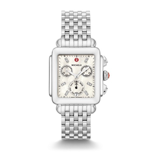 Michele Deco Non-Diamond, Diamond Dial Watch Mww06p000014 Mother-Of-Pearl