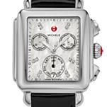 Signature Deco Diamond Dial Black Patent Leather