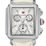 Signature Deco Diamond Dial Silver Patent Leather
