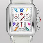 Signature Deco Carousel White Patent Leather