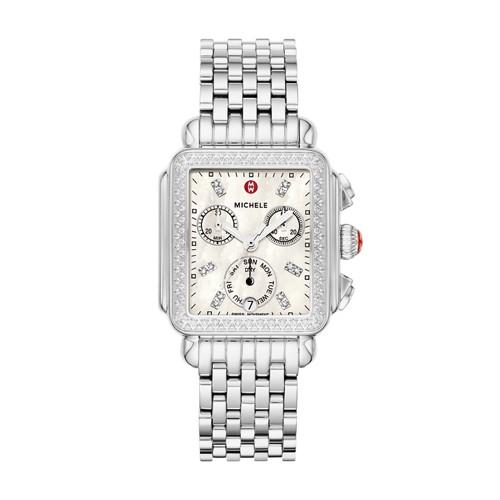 Michele Deco Diamond, Diamond Dial Watch Mww06p000099 Mother-Of-Pearl