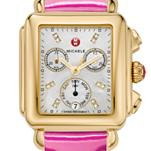 Signature Deco Gold Diamond Dial Pink Patent Leather