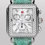 Signature Deco Diamond, Diamond Dial Agate Green Alligator