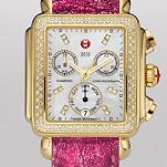 Signature Deco Diamond Gold, Diamond Dial Sea Pink Alligator