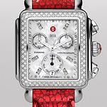 Signature Deco Diamond, Diamond Dial Red Carpet Leather