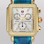 Signature Deco Diamond Gold, Diamond Dial Tidal Blue Patent