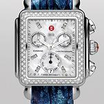 Signature Deco Diamond, Diamond Dial Blue Fashion Alligator