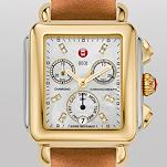 Signature Deco Two-Tone, Diamond Dial Khaki Fashion Leather