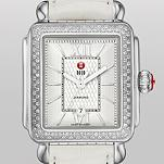 Signature Deco Diamond Guilloché Dial, White Alligator