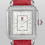 Signature Deco Diamond Guilloché Dial, Garnet Alligator