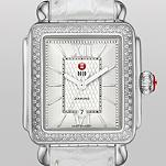 Signature Deco Diamond Guilloch� Dial, Silver Alligator