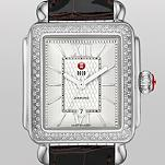 Signature Deco Diamond Guilloché, Espresso Alligator