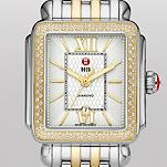 Deco Diamond Two Tone Guilloché, Two Tone Bracelet