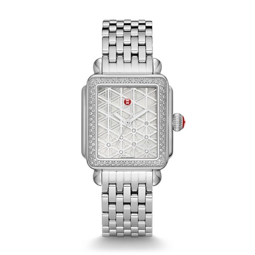 Michele Deco Diamond, Layered Diamond Dial Watch Mww06t000138 Mother-Of-Pearl