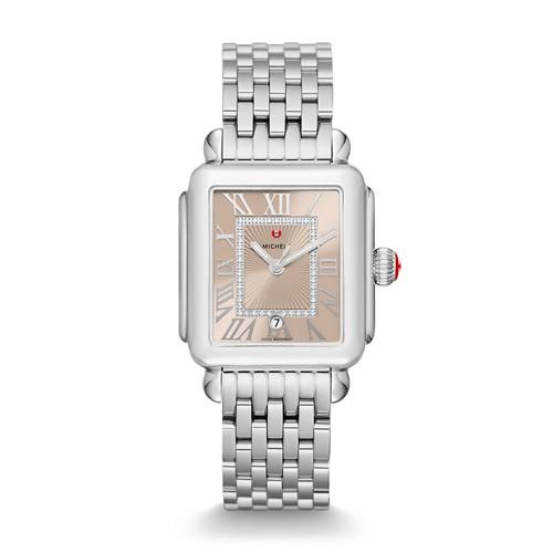 Michele Deco Madison, Beige Diamond Dial Watch Mww06t000148 Beige