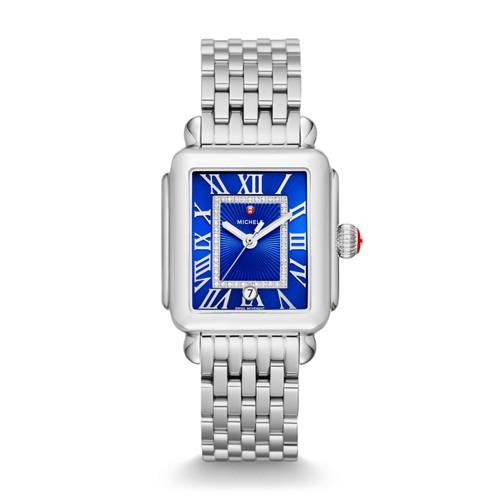Michele Deco Madison, Cobalt Diamond Dial Watch Mww06t000154 Blue