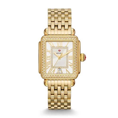 Michele Deco Madison Gold Diamond Watch Mww06t000161 Silver
