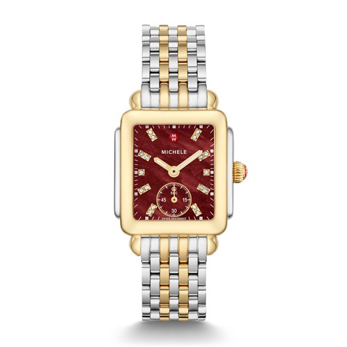 MICHELE Deco Mid Two-Tone Diamond Dial Watch  Jewelry- MWW06V000113