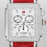 Deco XL Day Diamond, Diamond Dial Garnet Alligator