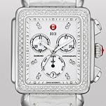 Deco XL Day Diamond, Diamond Dial Silver Alligator